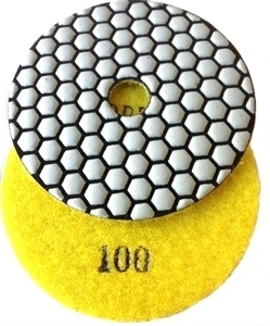 Picture of DPP10  4IN Diamond Polishing Pad DRY - 100 GRIT