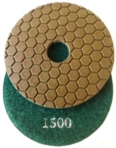 Picture of DPP14  4IN Diamond Polishing Pad DRY - 1500 GRIT