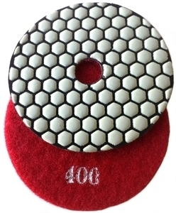 Picture of DPP28   5IN Diamond Polishing Pad 400 GRIT DRY