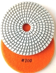 Picture of DPP127  5IN Diamond Polishing Pad WET - 100 GRIT