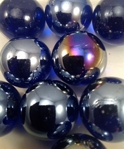 """Picture of M01 25MM or 1"""" Cobalt Blue Shiny Marble"""