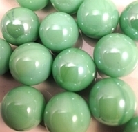 Picture of M53  16MM Pea green opal shiny glass marbles