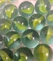 Picture of M82 16MM Green & yellow cat eye glass marbles