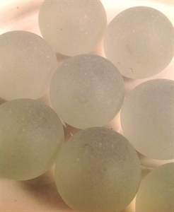 Picture of M225 25MM clear frosted glass marbles