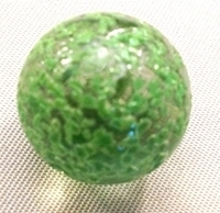 Picture of M85  16MM Clear Base Rolled in Green Crushed Glass Marbles