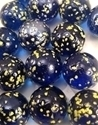 Picture of M137 16MM Transparent Blue Marble Rolled In Yellow Crushed Glass