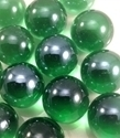 Picture of M175 16MM Transparent Green shiny marbles