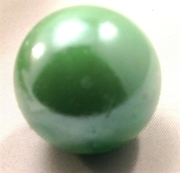 Picture of M37 25MM green opal shiny glass marbles