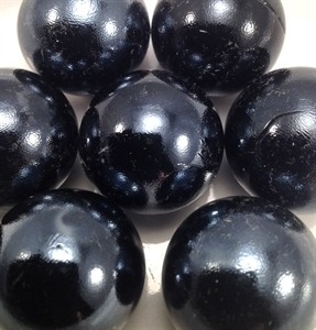 Picture of M43  25MM Black opal shiny glass marbles