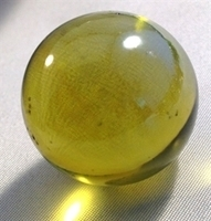 Picture of M03  25MM Light Amber Metallic Marbles.