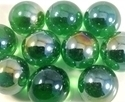 Picture of M09 16MM Dark Green Metallic Marbles