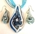 Picture of GP9 Hand Made Murano Fused Glass Jewelry Set-Leaf