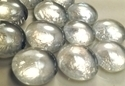 Picture of N04  14MM Clear metallic glass gems
