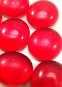 Picture of N14 14MM Dark Red Cathedral Metallic Glass Gems