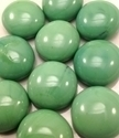 Picture of N21  14MM Pea Green Opal shiny glass gems