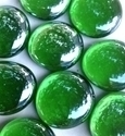 Picture of N65 30MM Green Shiny Glass Gems
