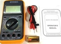 Picture of DT9206A  Digital Multimeter with Auto Power Off, Frequency