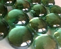 Picture of N07 14MM Green metallic glass gems