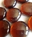 Picture of N62 30MM Amber Shiny Glass Gems