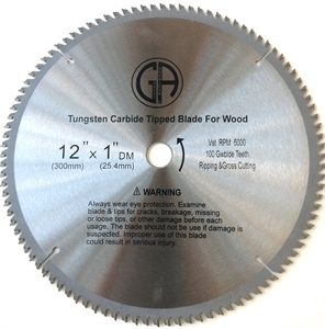 Picture of TCC2100  12IN 100 Tooth Tungsten Carbide Tipped WOOD Cabinet Saw Blade
