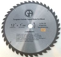 """Picture of TC204   12"""" 40 TOOTH Carbide Tipped Saw Blade for WOOD OUT OF STOCK"""