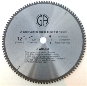 """Picture of TC30 12"""" 100T Triple Chip TCT Saw Blade for PLASTIC"""