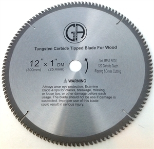 Picture of TCC2120  12IN 120 Tooth Tungsten Carbide Tipped WOOD Cabinet Saw Blade