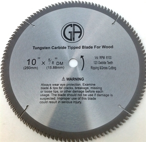 Picture of TCP4  10-in. - 120 Tooth - Tungsten Carbide Tipped WOOD Saw Blade, Heavy Duty, Professional Quality