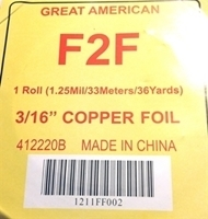 "Picture of FF2  3/16"" x100' Copper Foil 1.25 mil"