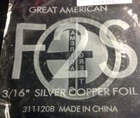 """Picture of FF2S  3/16"""" x 100' Silver Copper Foil 1.25 mil"""