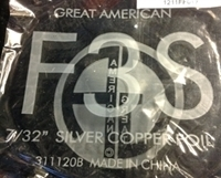 """Picture of FF3S  7/32"""" x 100' Silver Copper Foil 1.25 mil OUT OF STOCK"""