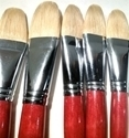 Picture of ART6156  Bristle Hair Filbert Style Paint Brush Set 5pcs