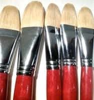 Picture of ART6156  Bristle Hair Filbert Style Paint Brush Set 5pcs