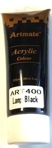 Picture of ART400  Acrylic Paint 120ml tube - Lamp Black