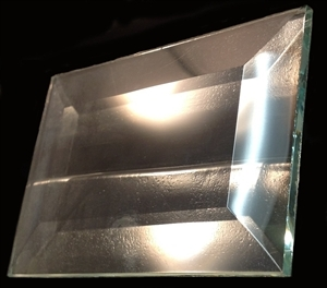 """Picture of B23 2"""" x 3"""" Rectangle Bevel 22"""