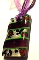 Picture of GP12 Hand Made Murano Fused Glass Jewerly-Rectangle