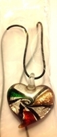 Picture of GP18 Hand Made Murano Fused Glass Jewerly Heart