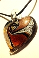 Picture of GP20 Hand Made Murano Fused Glass Jewerly Heart