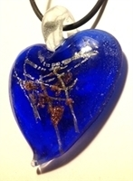 Picture of GP28 Hand Made Murano Fused Glass Jewerly-Heart