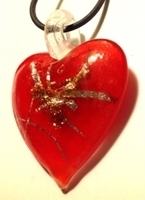 Picture of GP31 Hand Made Murano Fused Glass Jewerly-Heart