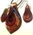 Picture of GP2 Hand Made Murano Fused Glass Jewelry Set-Leaf