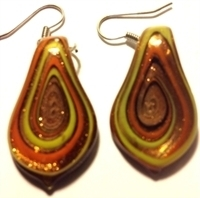 Picture of GP3 Hand Made Murano Fused Glass Jewelry Set-Leaf