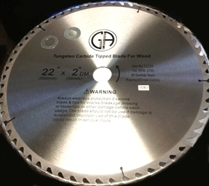 "Picture of TC226  22""  60 Tooth Carbide Tipped WOOD Saw Blade, Heavy Duty, Professional Quality"