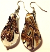 Picture of GP6 Hand Made Murano Fused Glass Jewelry Set-Leaf