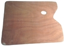 Picture of ART107  wooden palette, rectangle  mahogony and lacqeur finish 15x11