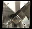 Picture of P26CI  crystal clear square pendant, 28mm.