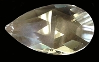 Picture of P10D  63x37mm Faceted crystal drop with top hole mount