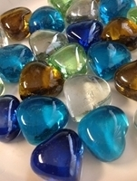 Picture of M69  16mm Thick Heart Shaped Glass Gems