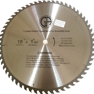 "Picture of TC806N    18"" 60 TOOTH - Tungsten Carbide Tipped for WOOD WITH NAILS Saw Blade"