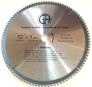"Picture of TCP34 12"" 100T Carbide Saw Blade for STEEL"